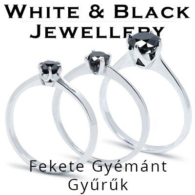 Fekete Gyémánt Elegyzési Gyűrűk